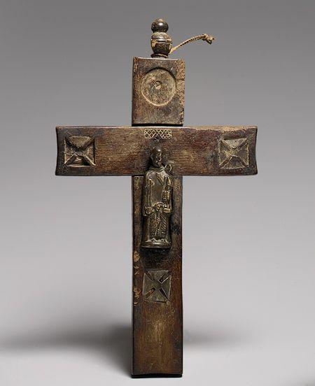 Crucifix: Saint Anthony of Padua, 18th century  Angola/Democratic Republic of Congo; Kongo  Brass