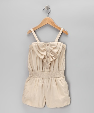 Take a look at this Khaki Shell Romper by Chillipop on #zulily today!