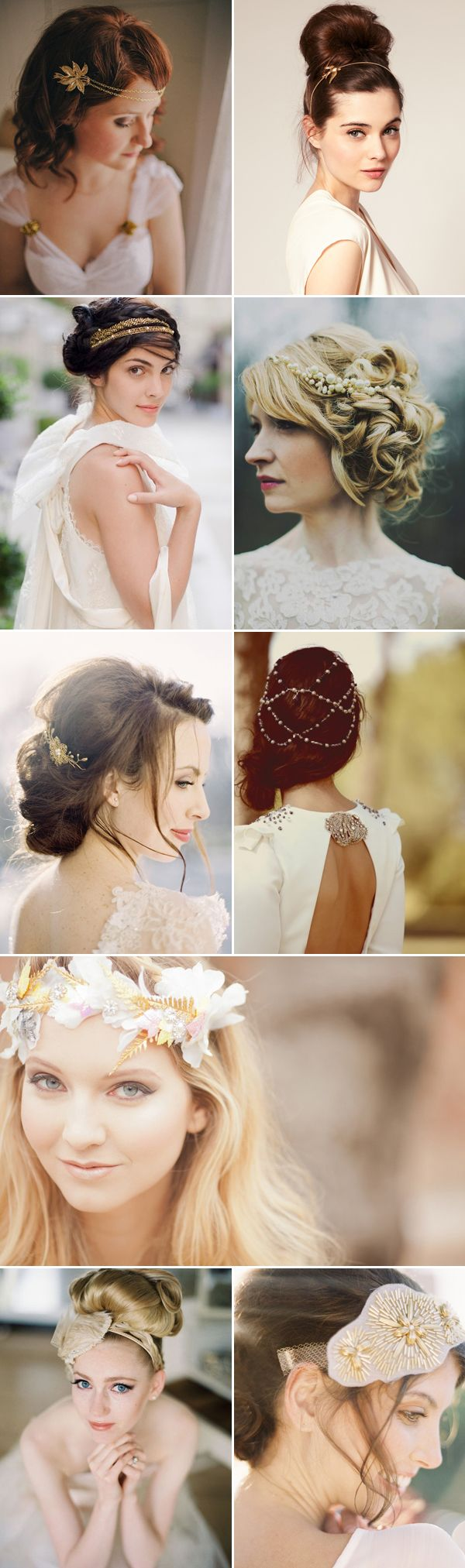27 Bridal Hairstyles for Fall Weddings - Gold & Jewelry