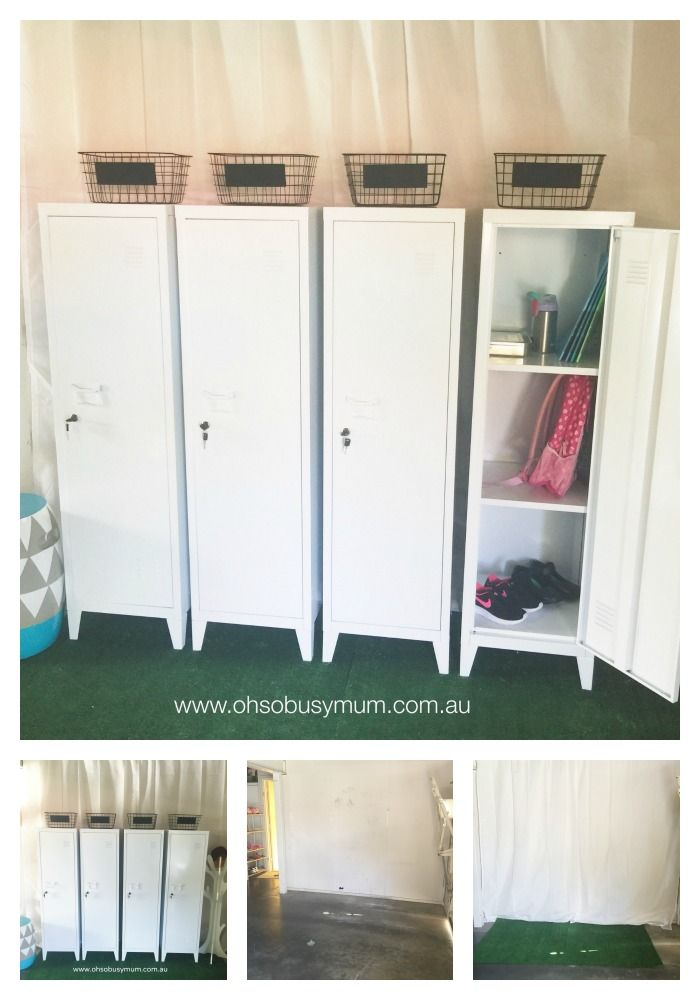 Kmart School Station using the Kmart Metal Lockers. Kmart Homewares
