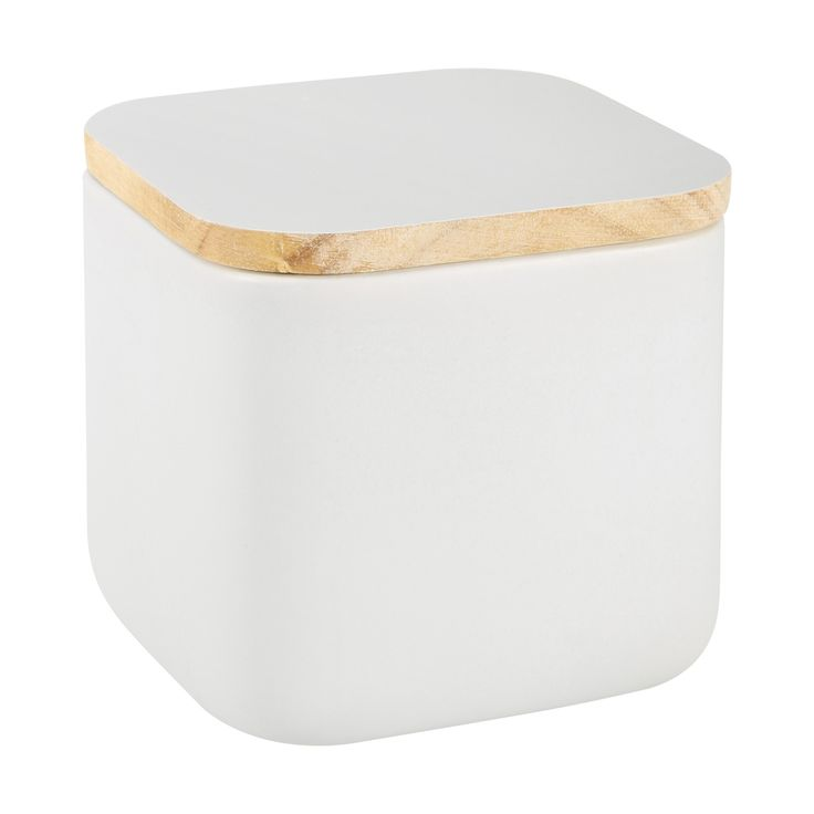 Grey Square Canister   Kmart