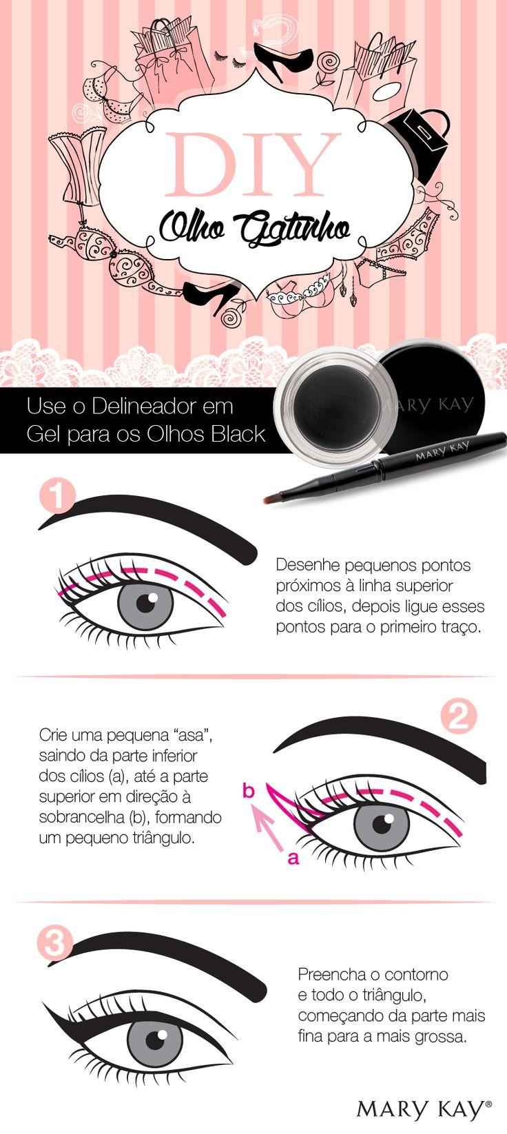 Quem não ama um olho gatinho, né?  E sabemos também que todo mundo quer aprender o passo a passo! :D #makeuplovers