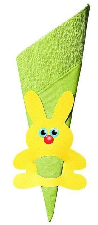 húsvéti szalvétagyűrű nyúl easter rabbit decorate napkin