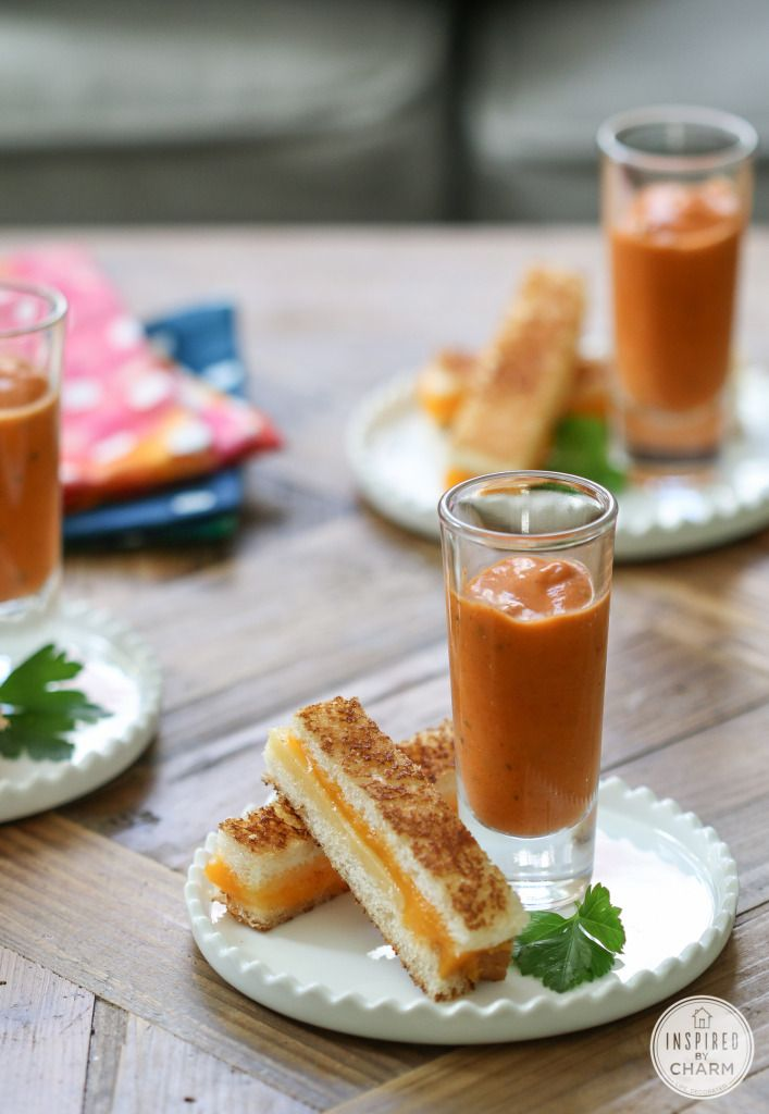 Mini Grilled Cheese Sandwiches from @inspiredbycharm