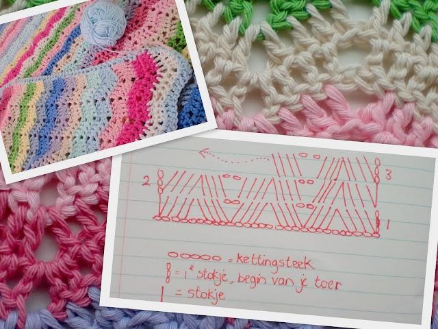 Crochet Ripple Stitch - Chart ❥ 4U // hf