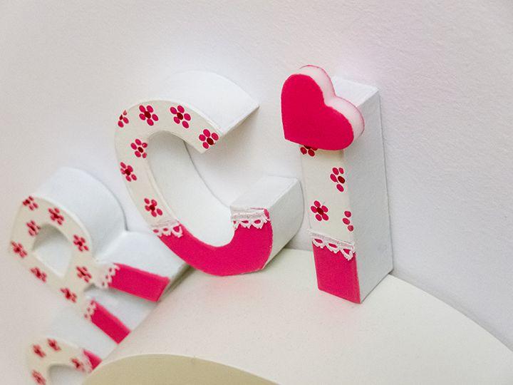 Betű dekorációk papírmaséból - Art-Export webáruház