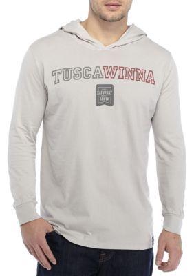 Saturday Down South Men's Long Sleeve Tuscawinna Hoodie Tee - Light Gray - 2Xl