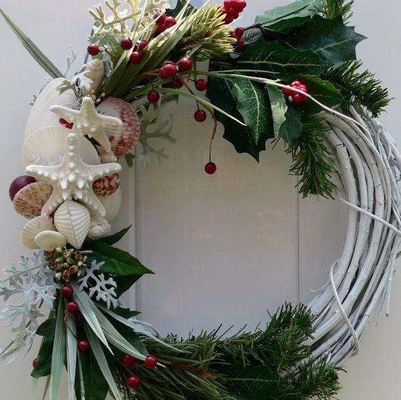 Do It Yourself Home Design: Beach Themed Christmas Wreath Www.etsy.com/beachywreaths