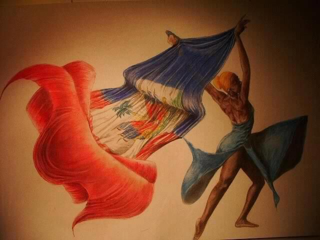 nadia-love:    Happy Haitian Flag Day  Wonder who the artist is of this beautiful piece. i'm so in love…