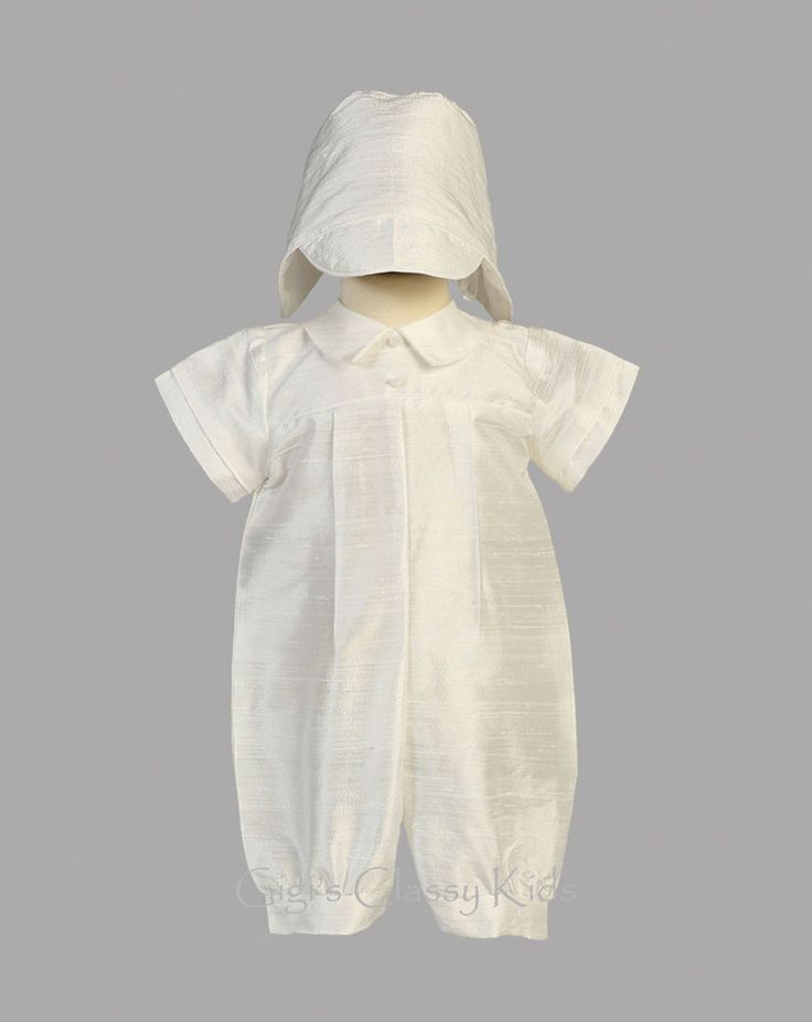 Baby Boys 100% Natural Silk Romper Suit Outfit Set Christening Baptism Conner  #Litio #RompersJumpsuits