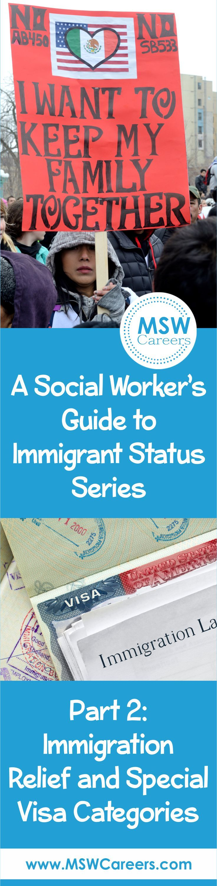 Social workers can help their clients apply for immigration relief. Learn how social work and immigrant visa status go hand in hand.