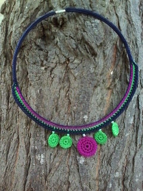 crochet necklace_cotton