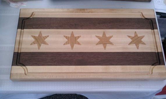 Chicago Flag Cutting Board. Love!
