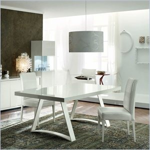 Rossetto Nightfly 3 Piece Rectangular Dining Table Set in White