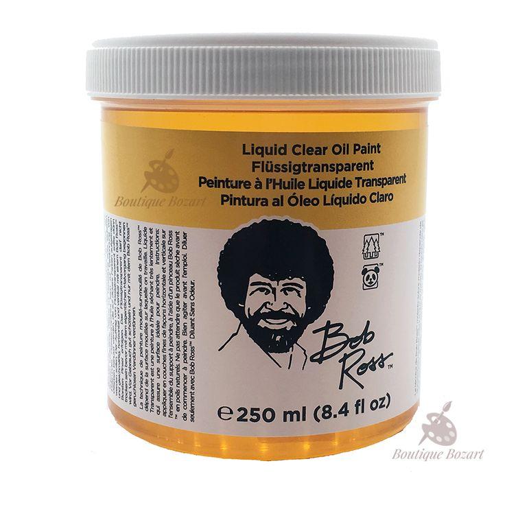 Peinture à l'huile Liquide Bob Ross 250ml Transparent