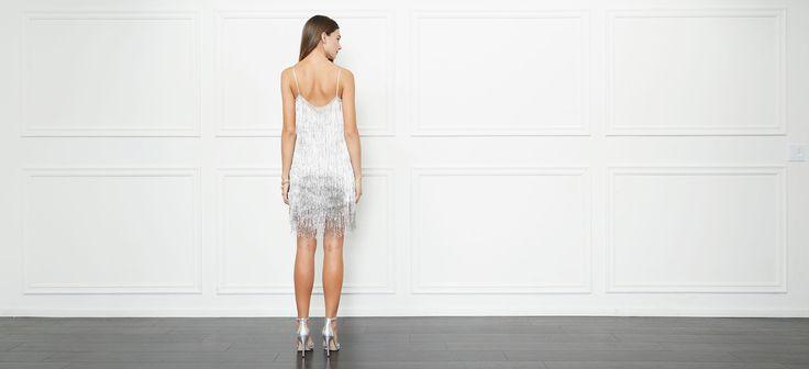 Della Fringe Metallic Mini Dress | Rachel Zoe