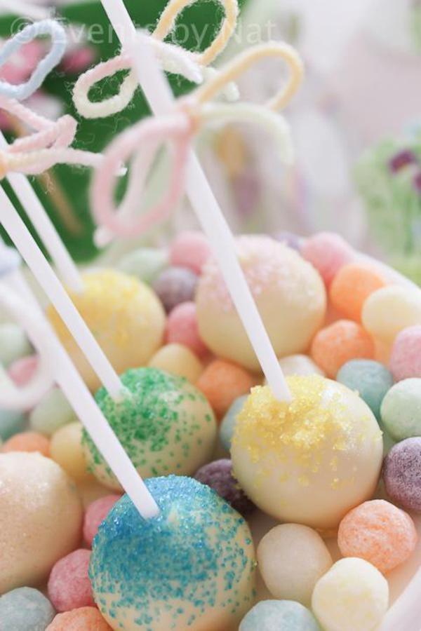 Cake pops preciosos / Beautiful pastel-toned cake pops