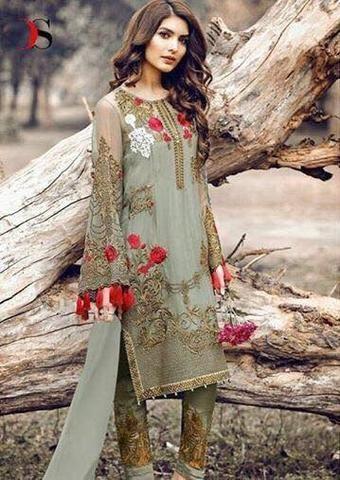 351a998e93 Serene Chiffon Suit, Ladies Replica Shop, Embroidered Dresses ...