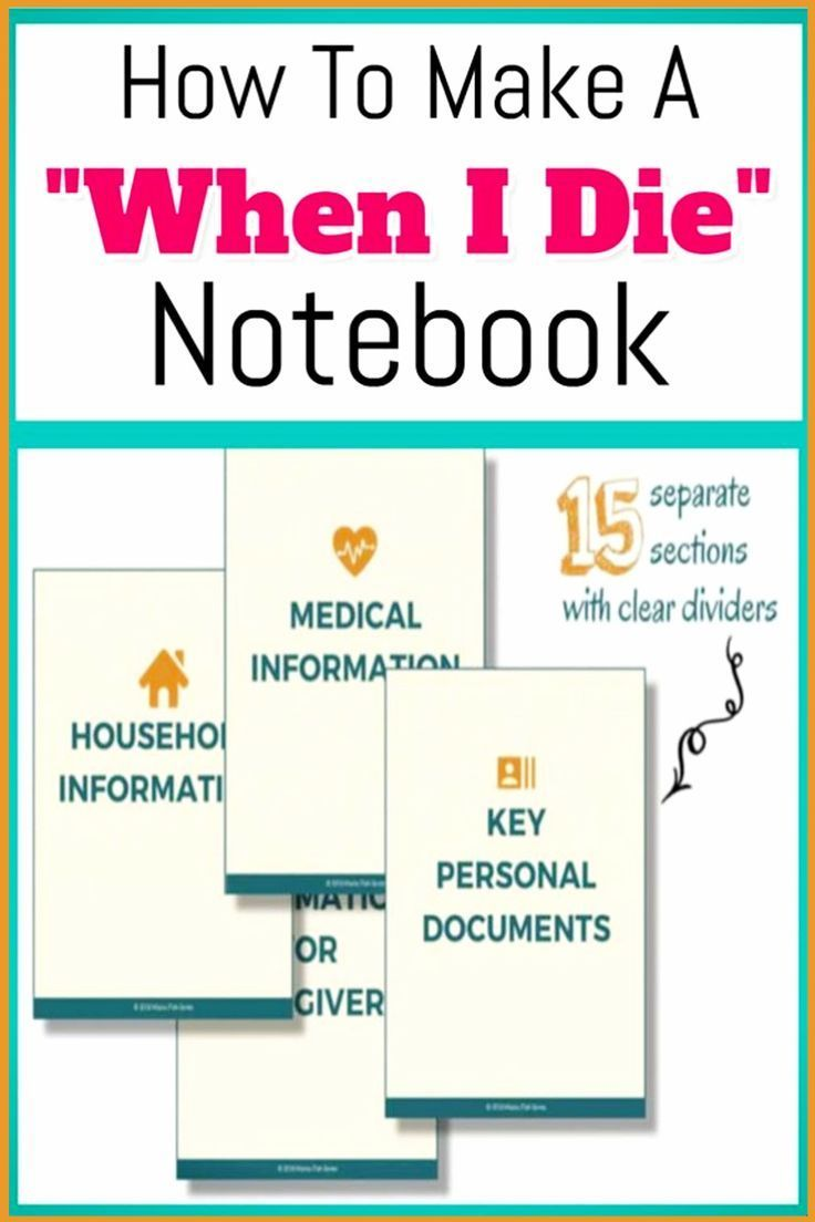 How To Organize Important Documents In An Emergency Binder Or Household Notebook Decluttering Your Life Emergency Binder Estate Planning Checklist Funeral Planning Checklist