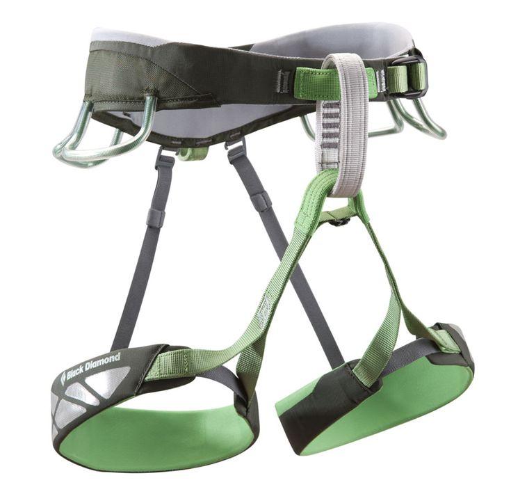 Black Diamond Focus Harness | Adjustable, releasable elastic risers. 12 kN-rated haul loop | at www.weighmyrack.com #rock #climbing #gear