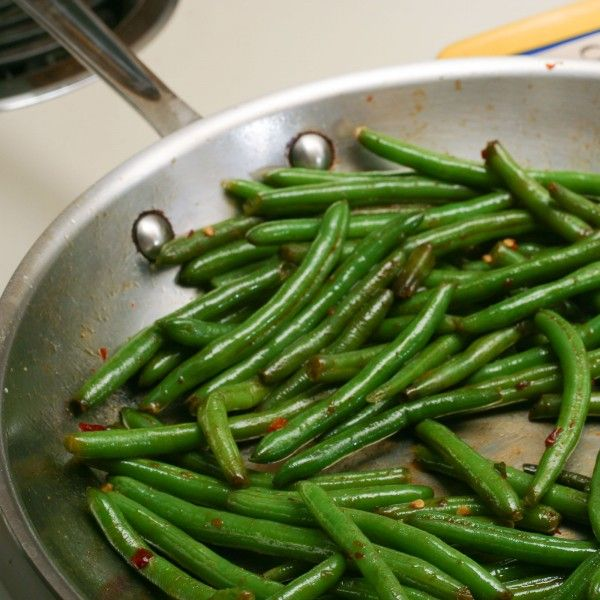 Speed Beans: Sauteed Frozen Green Beans - the asian version is our favorite (a perfect way to use frozen green beans from last year's harvest)