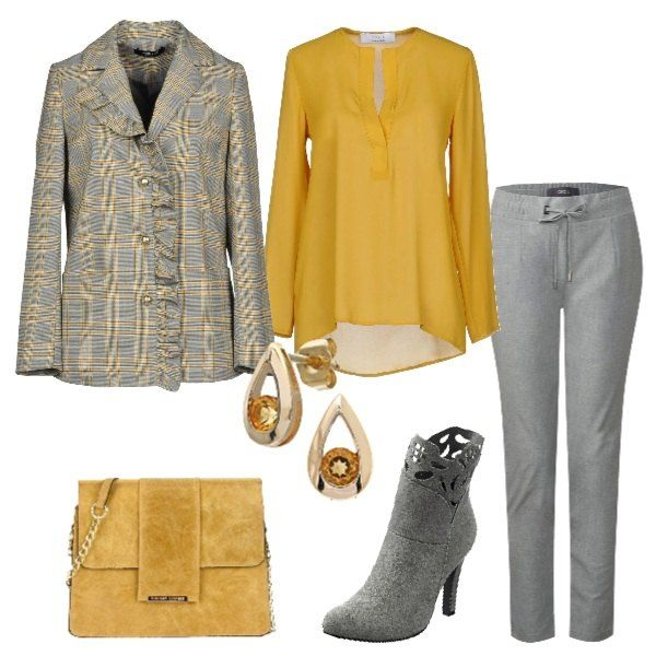 Una splendida giacca in Principe di Galles grigia in fantasia 347bdc0fa6b