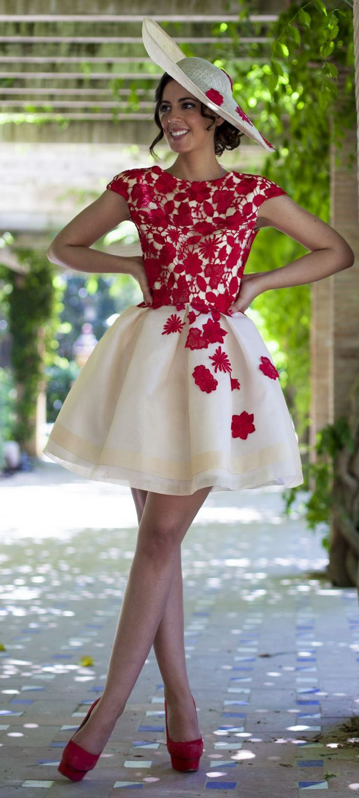 Silvia Navarro White And Red Prom Styling by 1sillaparamibolso