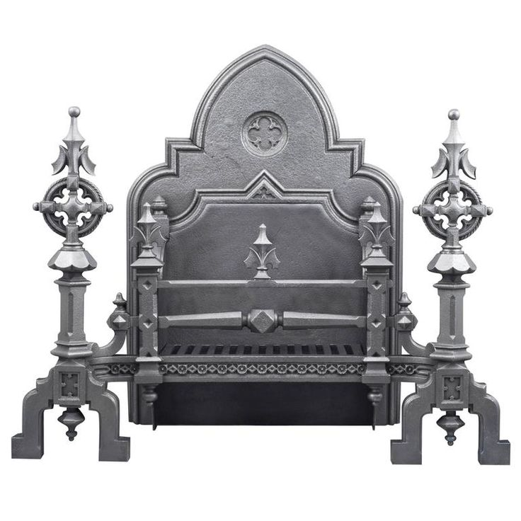 Huge Ornate Antique English Gothic Revival Cast Iron Fireplace Grate | From a unique collection of antique and modern fireplaces and mantels at https://www.1stdibs.com/furniture/building-garden/fireplaces-mantels/