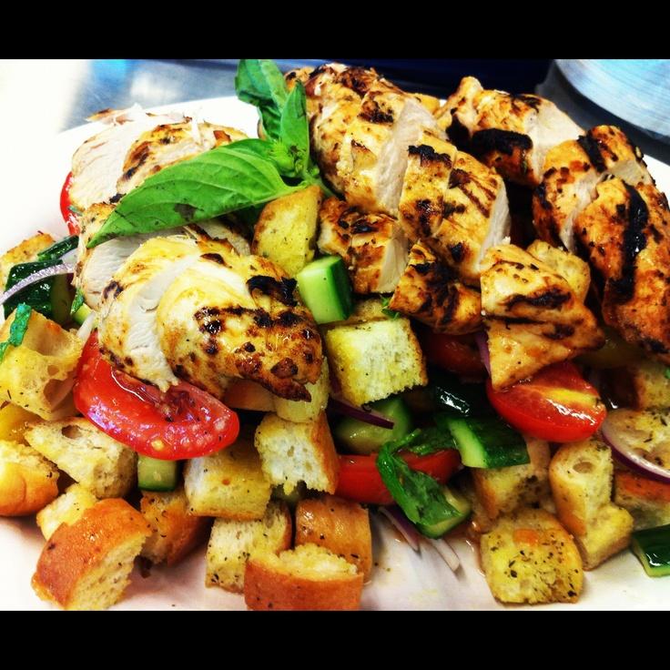 Panzanella Salad with Grilled Chicken