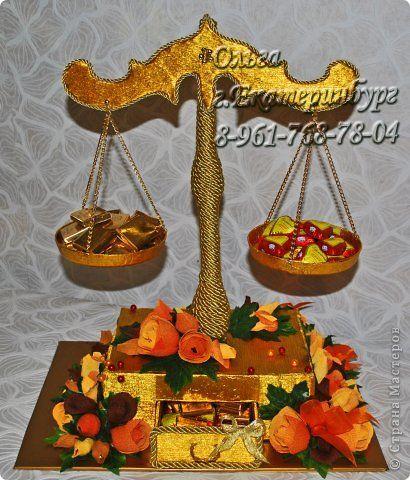 Свит-дизайн День рождения День учителя Букеты из конфет Осень Бумага гофрированная Продукты пищевые фото 1