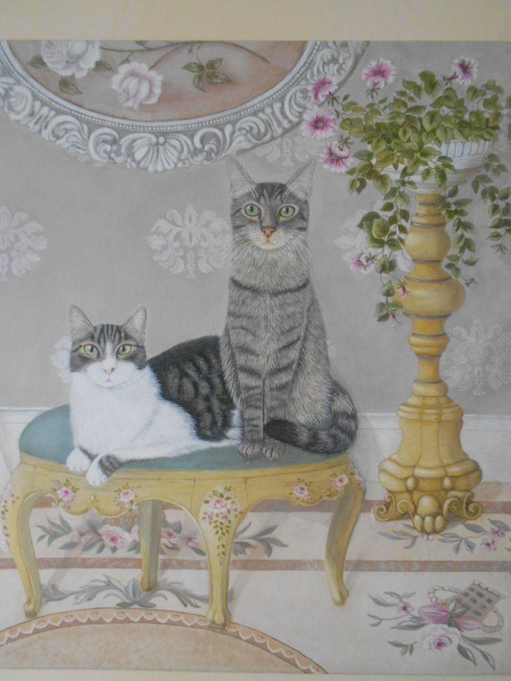 Ritratto di Kitty Fiore e Robin (particolare) www.angelagiulian...