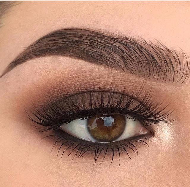 Beautiful eye makeup in nude colors