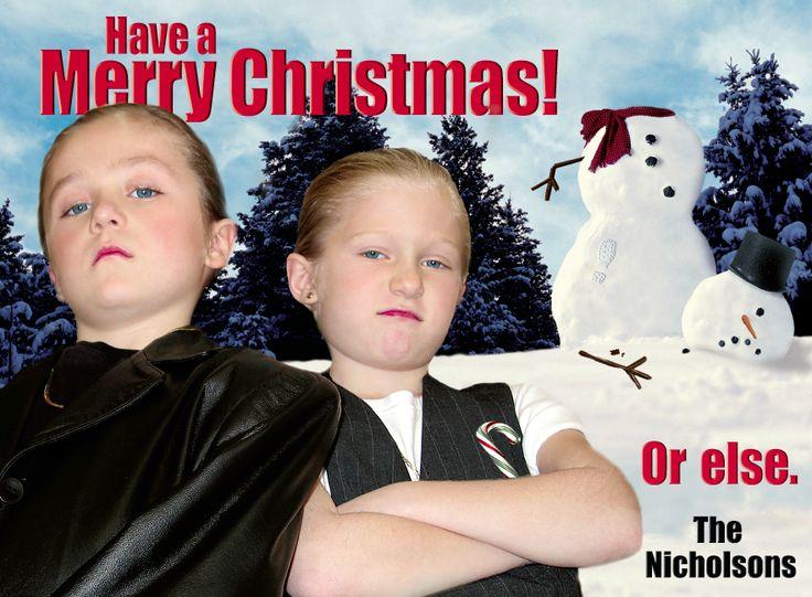 Funny Christmas Card Ideas Nicholson Bada Bing The Kids Hated