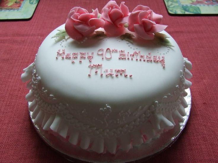 90th Birthday Cake photo: Cake 2 DSCF3692.jpg