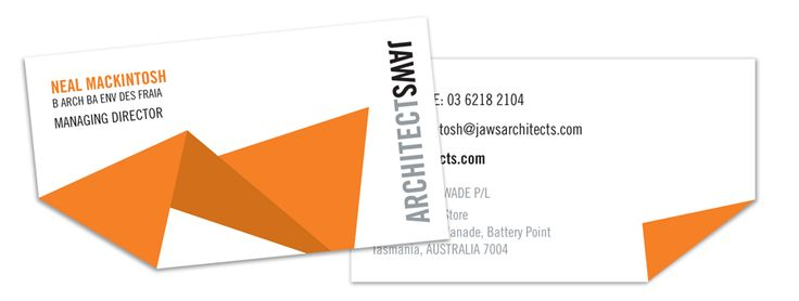 Rebrand and business card design for JAWS architects. By Fiona Verdouw.