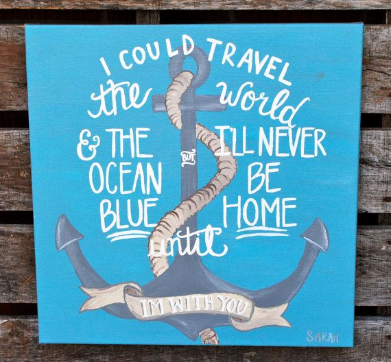 20 x 20 Anchor Canvas Painting
