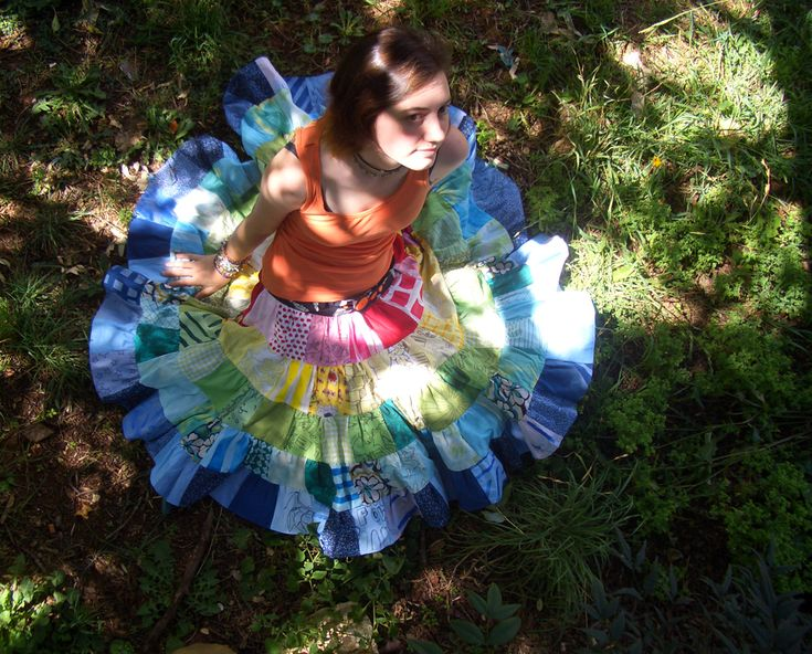 Rainbow patchwork skirt! I am not this skilled.