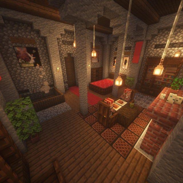 Medieval Castle Interior Design Minecraftbuilds Minecraft Interior Design Minecraft Mansion Minecraft Crafts House interior designs minecraft
