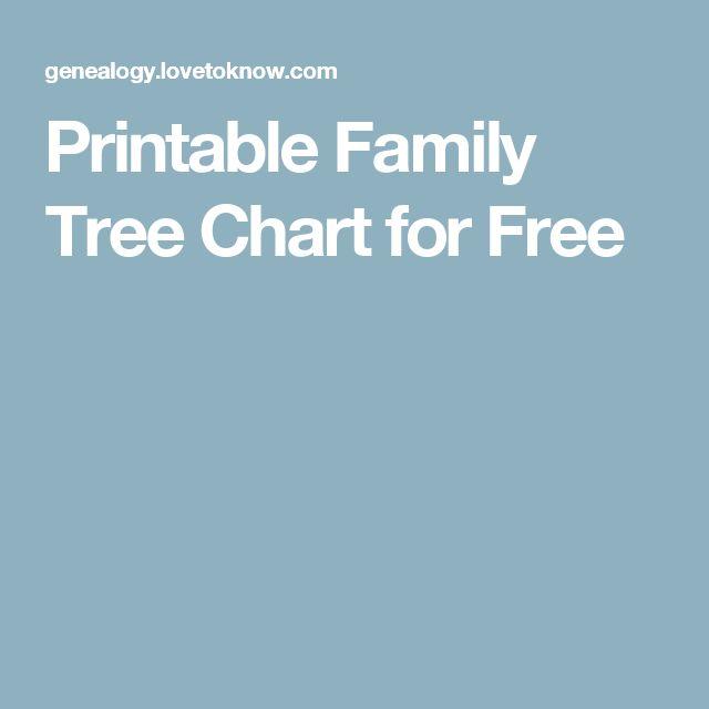 Printable Family Tree Chart for Free | organized genealogy printable