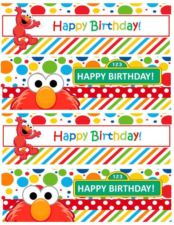 Image result for free elmo printable birthday decorations