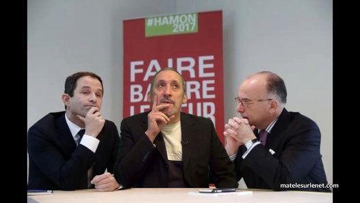 Séance de travail aux côtés de Benoit Hamon et Bernard Cazeneuve. J'ai le cerveau en bouillie