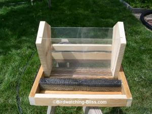 Free bird feeder plans for platform, hopper, hummingbird, suet, more. Complete layout plans, detailed instructions, photos of each step. Easy to build with little tools.