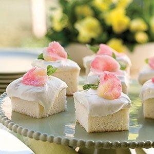 Angel Food Cake with Gumdrop Rose Petals