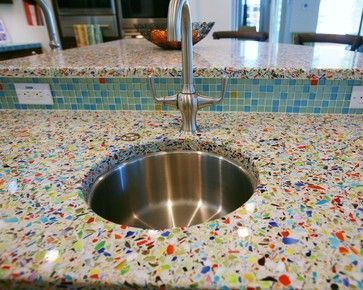 107 best terrazzo images on pinterest | recycled glass countertops ... - Terrazzo Kitchen Sinks