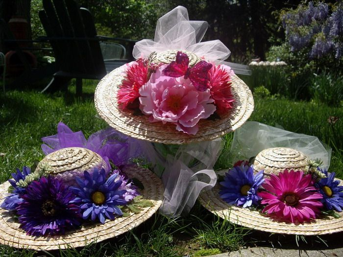 127 best tea party ideas princess images on pinterest for How to decorate a hat for a tea party