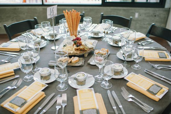 San Francisco Conservatory Wedding - instead of centerpieces they did meat & cheese trays.  that might be more my style but everything else on here looks cute!