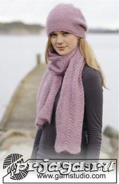 Шапка и шарф спицами «Роза во льду»