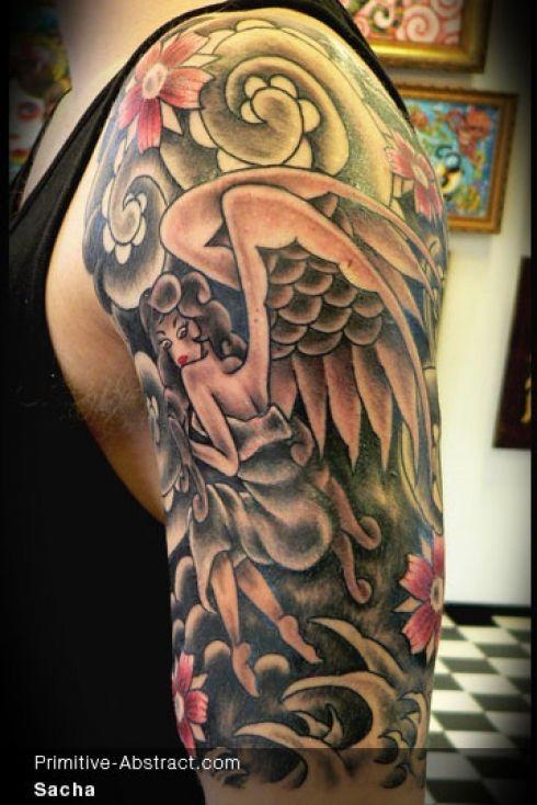 ✿ Tattoos ✿ Sabine Grønhøj, Kingpin Tattoo, Дания