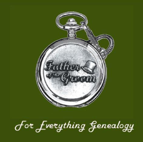 Father of The Groom Themed Pewter Motif Chrome Pocket Watch