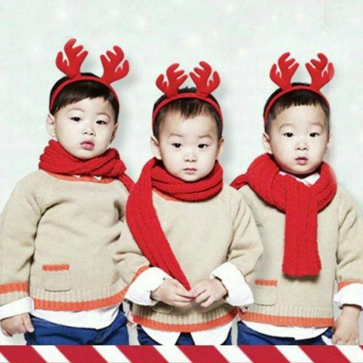 듀오락 크리스마스 이벤트 홍보 사진이라네욤. 루돌프 삼둥이!!!!!! 대한 민국 만세, 메리 크리스마스~~♥♥♥♥♥♥♥ 삼둥이들이랑 하루만 같이 놀아봤으면 좋겠다!